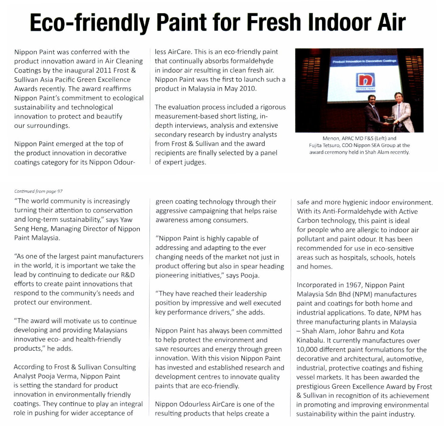 Nippon paint malaysia home decor renovation decoration for Eco friendly paint