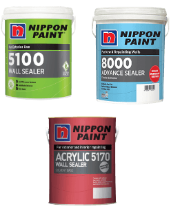 Nippon Acrylic 5170 Wall Sealer, Nippon 8000 Advance Sealer or Nippon 5100 Wall Sealer